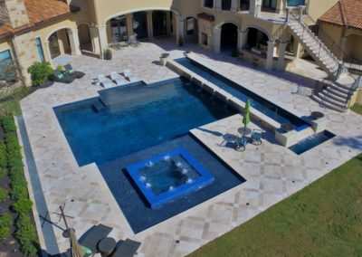 Geometric Pool Design by Cody Pools, a Houston Pool Builder