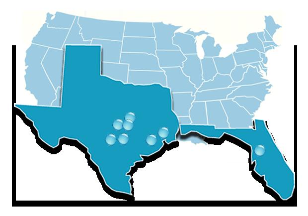 8 Design centers throughout Austin, San Antonio, Houston and Tampa